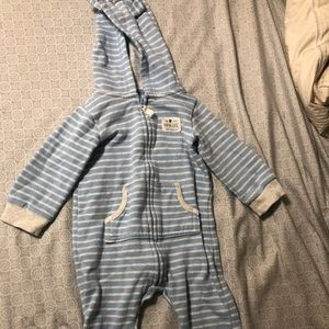 Carters sweater onesie 12 months with hood